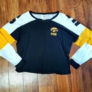 • PINK • Iowa Hawkeyes Long Sleeve Crop Top